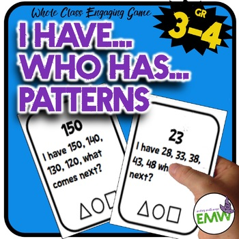 I Have … What Comes Next?  Pattern Game with 28 cards