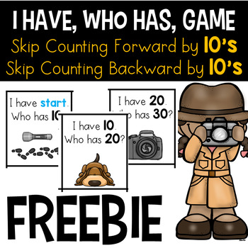 FREE I Have Who Has - Skip Counting By 10