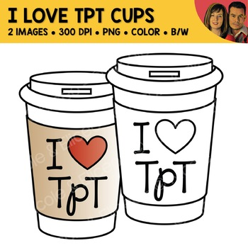 FREE I Love TpT Coffee Cup Clipart