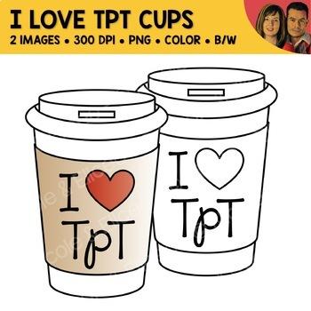 FREE I Love TpT Coffee Mug Clipart