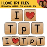 FREE I Love TpT Tile Clipart