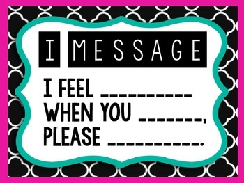 I Message Poster (Fill in Blank)