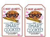 FREE - I Must Ad-MITT - Teacher Appreciation Gift Tag
