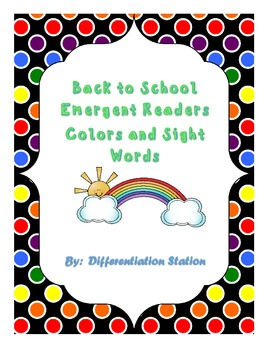FREE!  I See Colors: Emergent Reader, Sight Words, Colors, Common Core