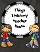 FREE I Wish My Teacher Knew (Templates)