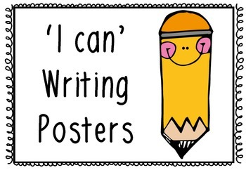 FREE 'I can' Writing Posters