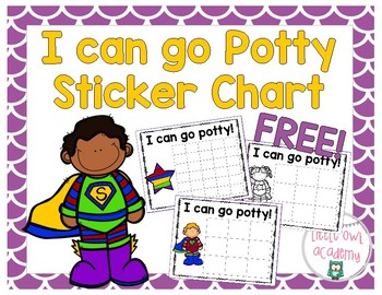 "FREE ""I can go potty"" sticker chart"