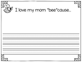 "FREE~ I love my mom ""bee""cause..."