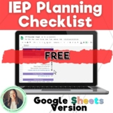 FREE - IEP Checklist (Before, During, and After the Meeting) Google Sheet