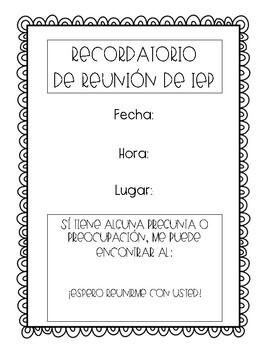 FREE IEP Meeting Reminder (English & Spanish!)