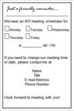 FREE IEP meeting reminder for parents