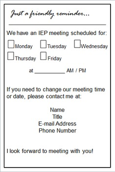 Free iep meeting reminder for parents by dana designs tpt free iep meeting reminder for parents spiritdancerdesigns Images