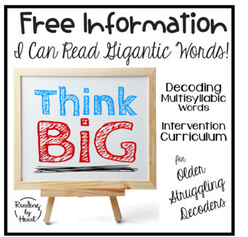 Decoding Multisyllabic Words FAQ Q&A FREE INFORMATION I Can Read GIGANTIC Words
