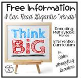 Decoding Multisyllabic Words FAQ Q&A FREE INFORMATION I Can Read GIGANTIC Words