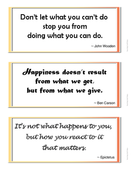 FREE . . .  INSPIRATIONAL QUOTES for Bulletin Boards . . . FREEBIE