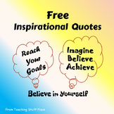 FREE . . .  INSPIRATIONAL QUOTES for Bulletin Boards ⭐  FREEBIE