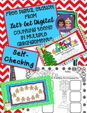 FREE INTERACTIVE DIGITAL TASK CARDS-Counting Teens in Multiple Arrangements