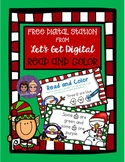 FREE INTERACTIVE DIGITAL TASK CARDS-Read and Color Sight Word Practice