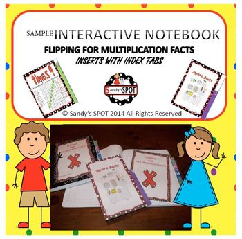 INTERACTIVE NOTEBOOK MULTIPLICATION INSERTS WITH TABS
