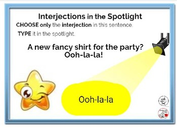 FREE INTERJECTIONS ... In the Spotlight ... Grammar ... BOOM™ Internet Cards