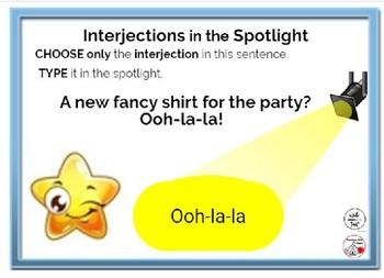 FREE INTERJECTIONS ... In the Spotlight ... Grammar ... BOOM™ Internet Cards