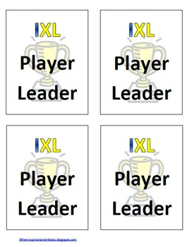 FREE IXL Math Goal Posters and Badges
