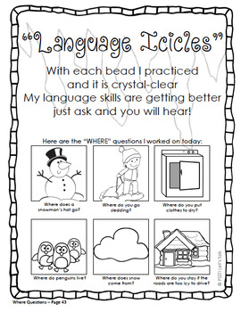 "FREE Icicle Craft for ""WH"" Questions"