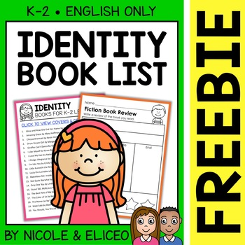 FREE Identity Activities and Book List