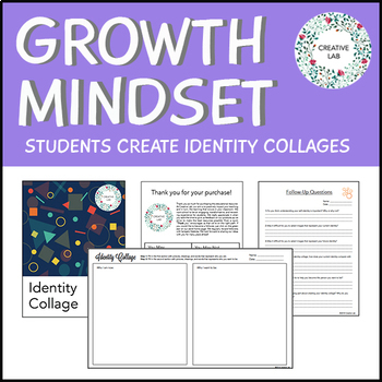 FREE - Growth Mindset - Identity Collage