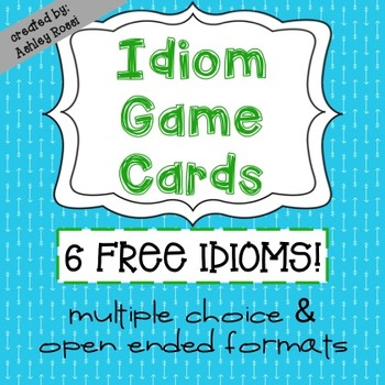 Idioms Game Cards FREE