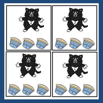FREE: If You Give A Cat A Cupcake Clip the Alphabet