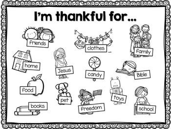 FREE I'm Thankful For Mat