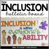 FREE Inclusion Bulletin Board Display