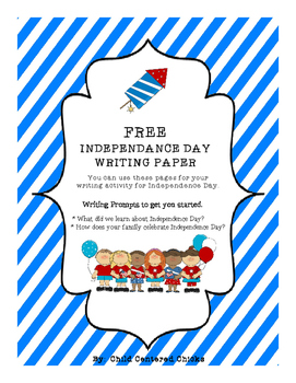 FREE Independance Day Writing Paper