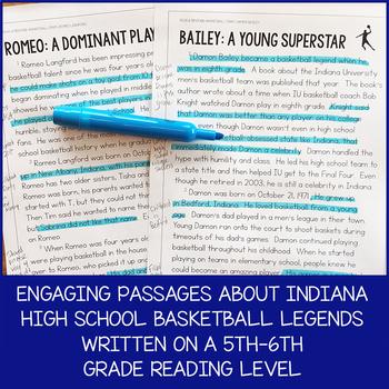 Indiana Basketball Paired Texts: Romeo Langford and Damon Bailey (Grades 5-6)