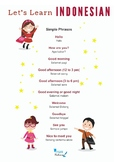 FREE Indonesian Simple Phrases Printable