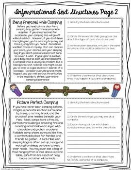 FREE Informational Text Structures Assessment | Google Classroom
