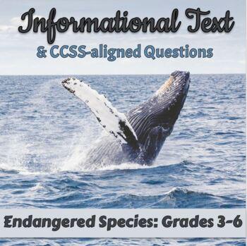 FREE Informational Text: Endangered Species: Grades 3-5 [Digital]