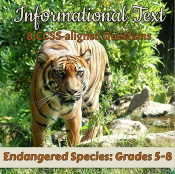FREE Informational Text: Endangered Species: Grades 6-8 [Print & Digital]