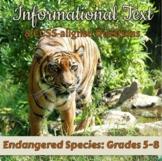 FREE Informational Text: Endangered Species [Print & Digital]: Grades 6-8