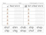 FREE Initial Digraph SH CH Real and Nonsense Word Sort