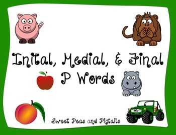 FREE Initial, Medial & Final Position /p/ flashcards