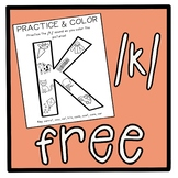 FREE Initial /k/ Articulation Coloring Sheet