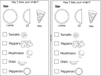 FREE Ink Saving Pizza Dramatic Play Center