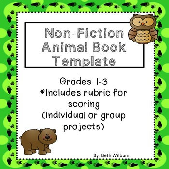 FREE Inquiry Based Animal Research Project- Book Template