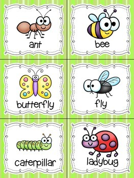 FREE Insects! Read, Write, and Count the Room {Literacy and Math Center} {CCSS}