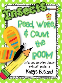 FREE Insects! Read, Write, and Count the Room {Literacy an