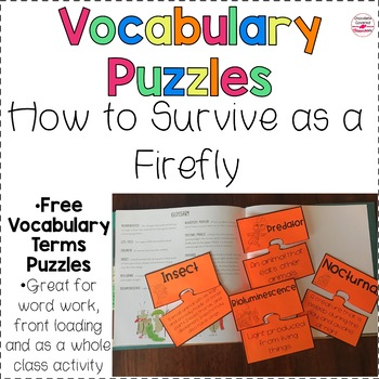 FREE Insects and Adaptations Vocabulary Puzzles
