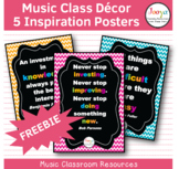Music Class Decor - Free Inspiration Posters
