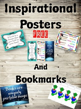 FREE Inspirational Bookmarks and Posters